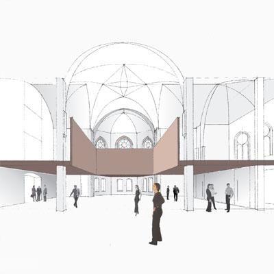 bathe+reber Architektur Dortmund WETTBEWERB UMBAU/AUSBAU EV. KIRCHE ZUM GEMEINDEZENTRUM