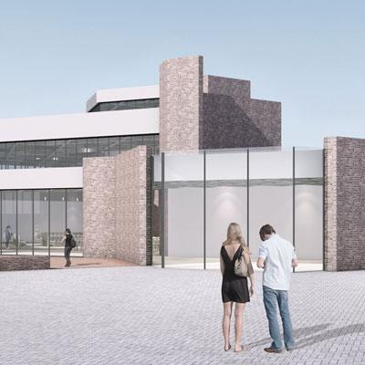 eva reber Architektur und Städtebau Wettbewerb Umstrukturierung Neubau Pfarrheim und Kirche St. Georg in Heiden